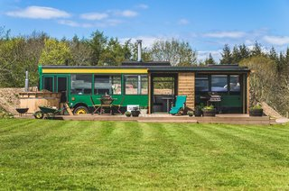 Set on a working farm with panoramic views of the Lammermuir Hills, this converted bus is ideal for a unique holiday experience. The roof has even been replaced with glass, allowing guests to truly sleep under the stars.