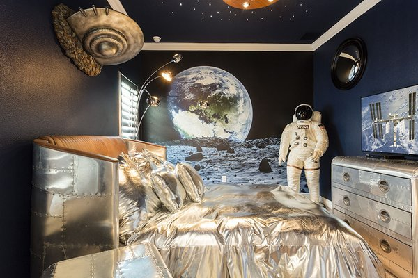Treehouse, nautical and astronautical-themed bedrooms make this home – just six miles from Disney World – all kids' dream property. The private pool, cozy lounge areas, and outdoor grill make it perfect for grown ups!  Photo 12 of 17 in 8 Unique Vacation Rentals Around the World