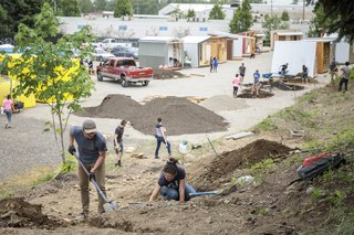 Placemaking at the Kenton Women's Village was led by CPID and City Repair.