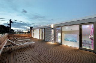 The home's roof-deck offers stunning views of the Australian city.