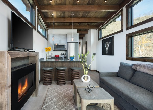 The interiors are rustic and modern with a sophisticated finish.
