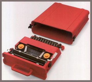 "The Valentine typewriter, 1968, ABS plastic and other materials. Often regarded as the first ""pop"" designer object, this typewriter was lightweight and portable and would become highly influential.  <span style=""color: rgb(204, 204, 204); font-size: 13px;"">Associazione Archivio Storico Olivetti Studio/ Ettore Sottsass Srl</span>"