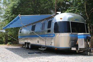 This is one of the five Airstreams that Katie and Rob own, but this 1986 Excella Airstream is extra special.