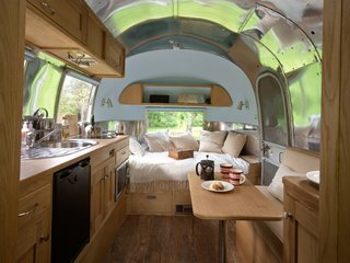 The beautiful interior of this Caravel was created by ARC Airstreams.