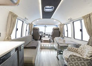 Shown here is high-quality interior by ARC Airstreams.