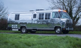 This sophisticated renovation was created by the professional Airstream designers at American Retro Caravans.