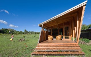 Experience the Magic of Easter Island While Staying in a Modern Eco-Cabana - Photo 2 of 6 - Each cabana can fix six guests and includes two bedrooms, a fully equipped kitchen, a dining and lounge area, and a covered outdoor terrace.