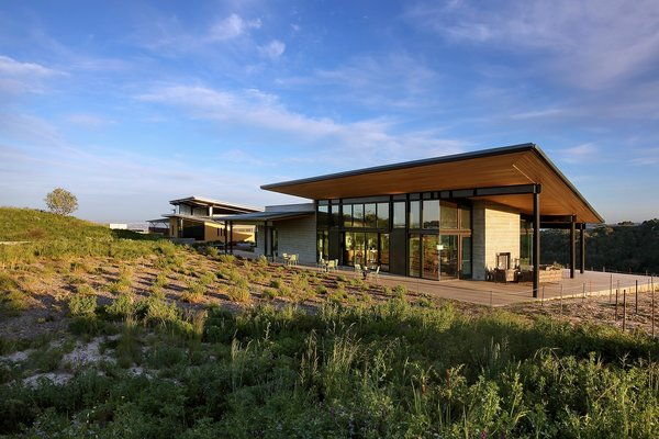 The design is contextually modern and expressive of the various functions contained within the winery.