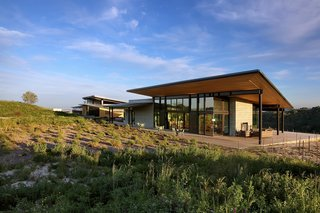 The design is contextually modern and expressive of the various uses contained within the winery.