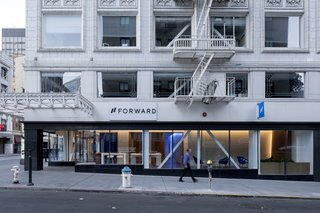 Forward's new 3,500-square-foot space sits on the corner of Sutter Street and Kearny Street in San Francisco's Financial District.