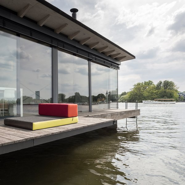 Stay in a Modern Houseboat in Berlin With Floor-to-Ceiling Windows