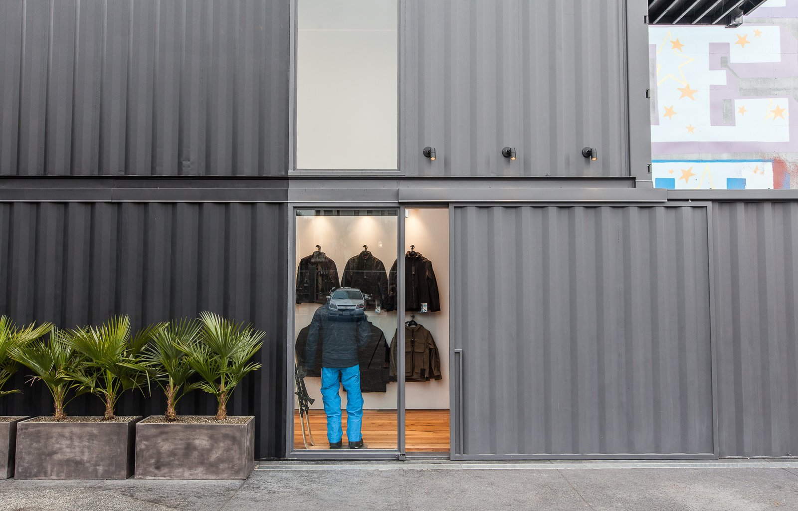 Exterior, Shipping Container Building Type, Metal Roof Material, Metal Siding Material, and Flat RoofLine  Photo 2 of 16 in 5 Best Retailers in Upcycled Shipping Containers