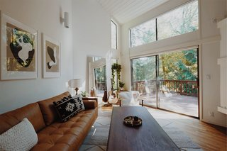 Ample windows help keep the interiors as bright as possible during the dark Pacific Northwest winter.