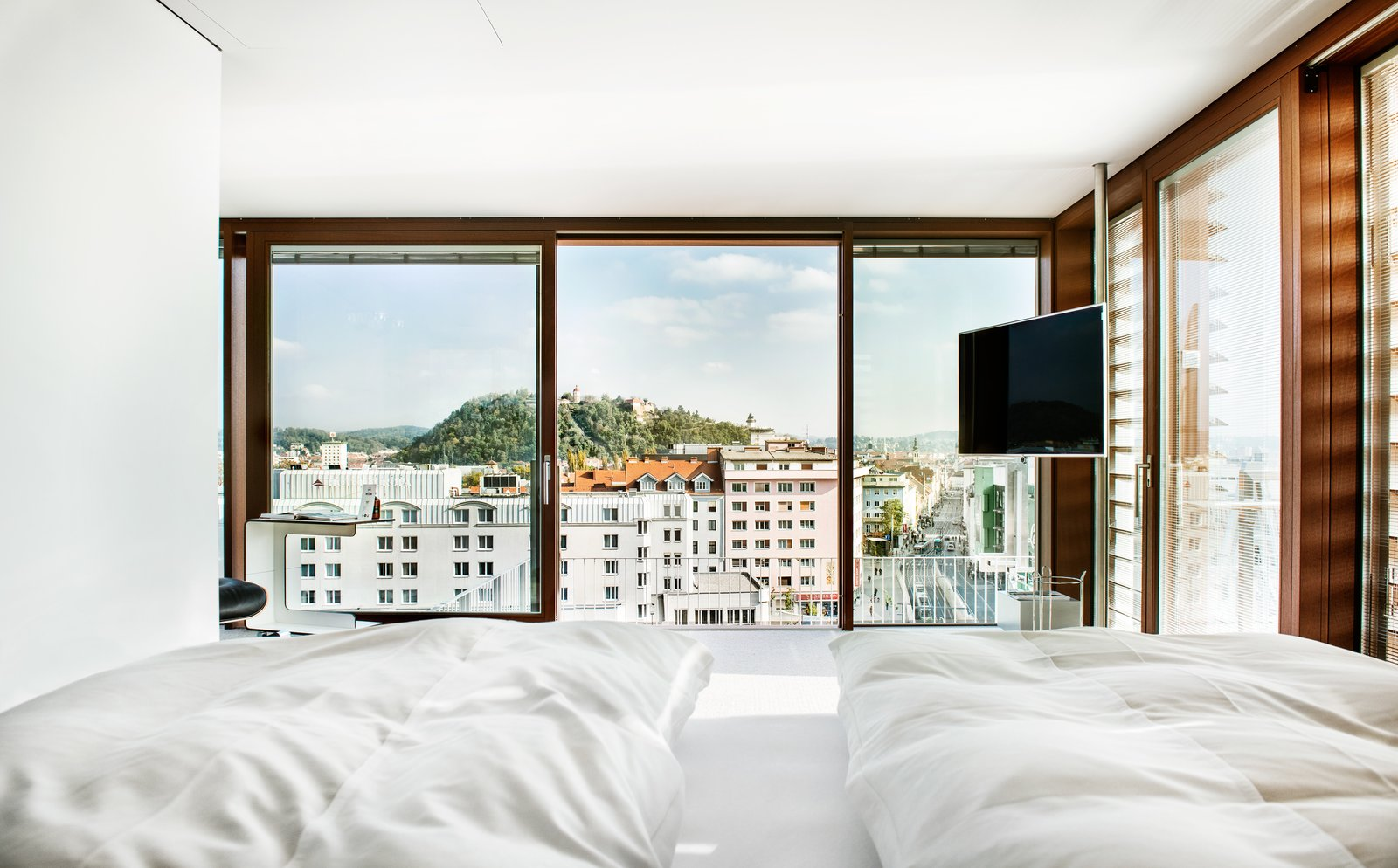 Windows  Photo 4 of 8 in Stay in a Prefab Cube Placed Atop a Midcentury Hotel in Austria