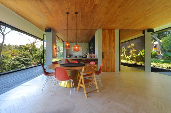 Dining Room, Pendant Lighting, Chair, Recessed Lighting, and Table  Photo 9 of 18 in An Incredible Vacation Villa in the Balinese Jungle That's Part Chameleon