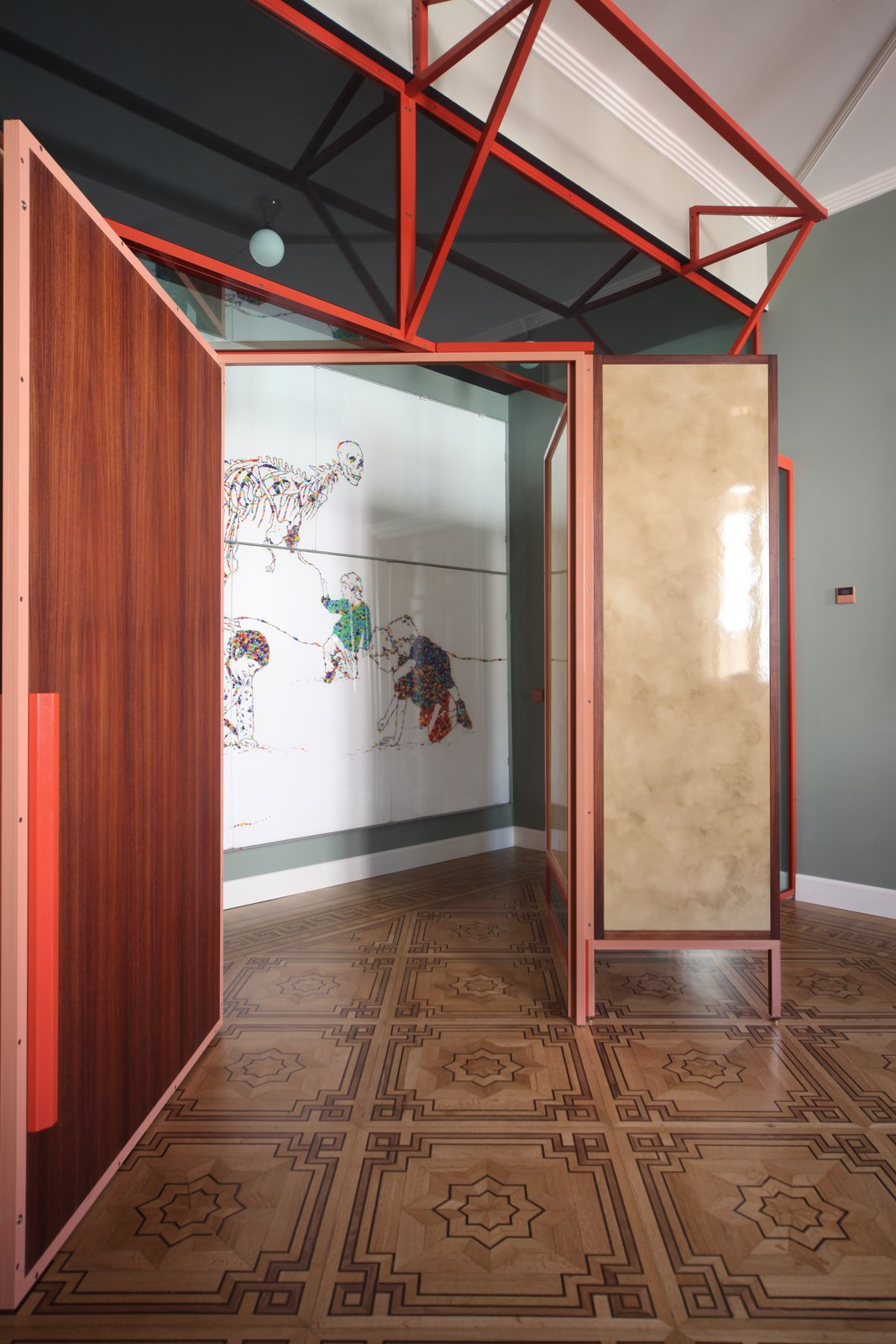 Doors, Wood, Interior, Metal, and Swing Door Type  Photo 15 of 24 in This Venetian Apartment Is Bursting With Incredible European Furnishings