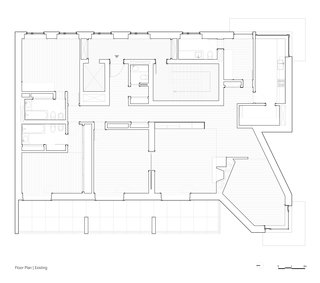 A Luminous Renovation in Portugal Creates a Bright and Airy Apartment - Photo 14 of 15 - Original floor plan