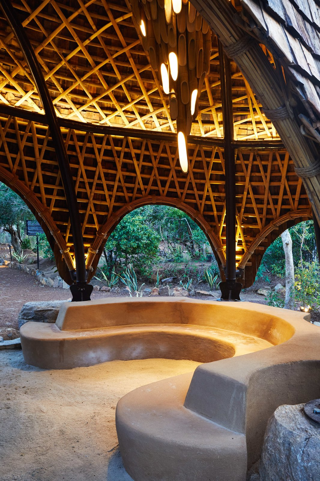 Outdoor, Hanging Lighting, and Walkways  Wild Coast Tented Lodge from Stay in a Cocoon-Like Tent at a Safari Resort in Sri Lanka