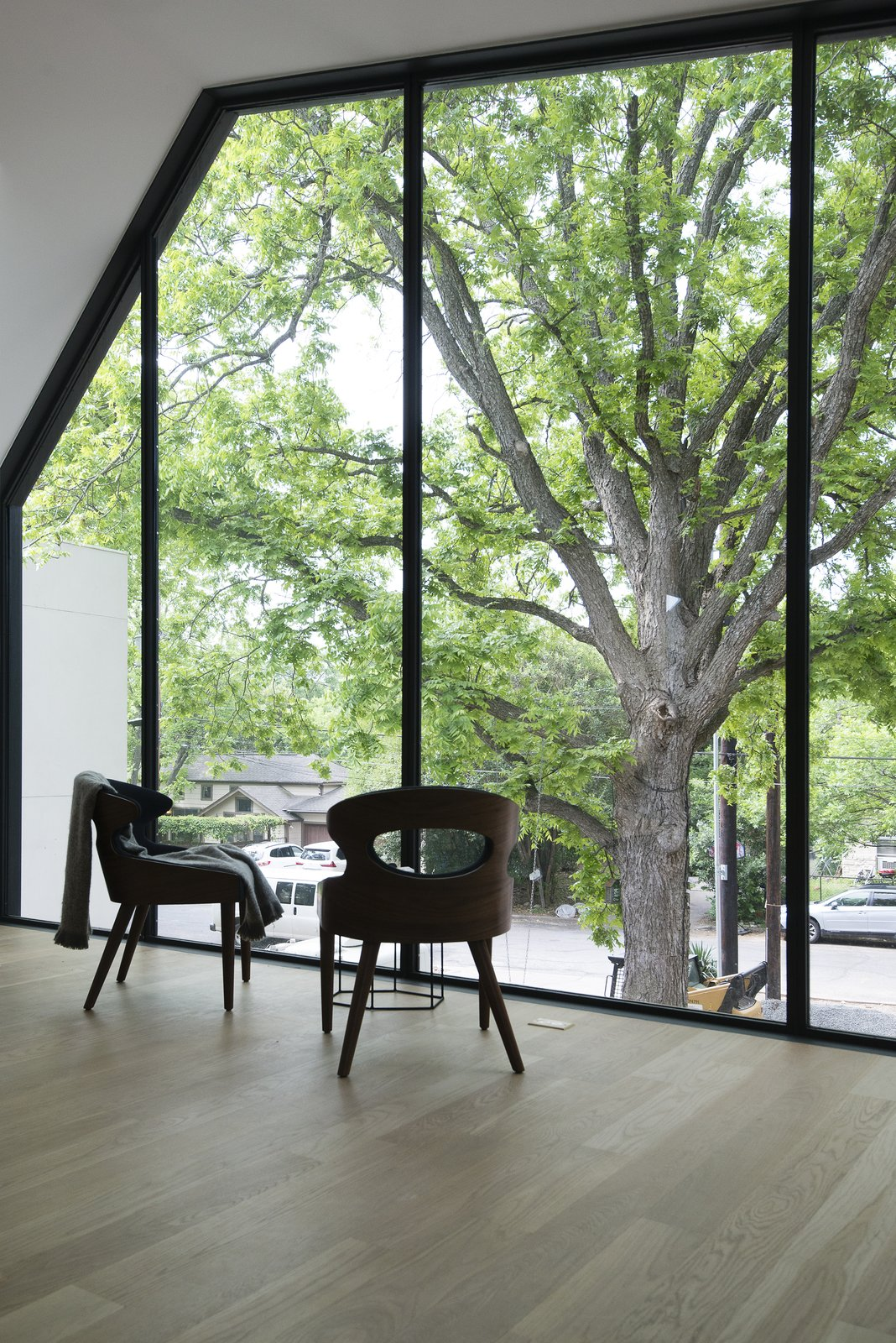 Windows, Metal, and Picture Window Type  Photo 16 of 21 in This Austin Home Was Designed to Showcase a Vintage Car Collection