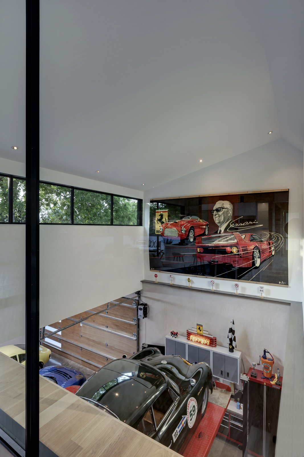 Garage and Garage Conversion Room Type  Photo 9 of 21 in This Austin Home Was Designed to Showcase a Vintage Car Collection