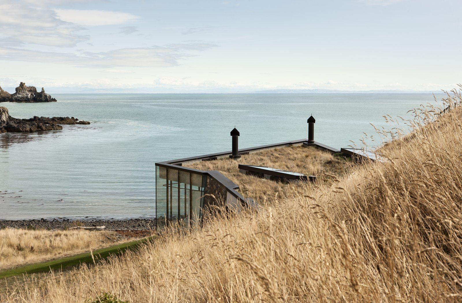 Exterior, House Building Type, Green Roof Material, Glass Siding Material, and Flat RoofLine  Photos from A New Book Reveals Some of the World's Most Incredible Vacation Rentals