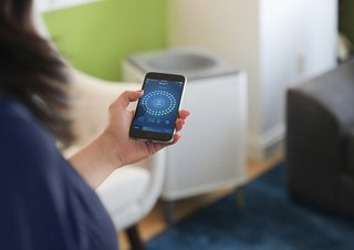 The Airmega mobile app lets you remotely change settings on Wi-Fi enabled units and monitor the air quality in your home anytime, from anywhere. It also can give you real-time air quality notifications, filter lifetime monitoring and a scheduler.