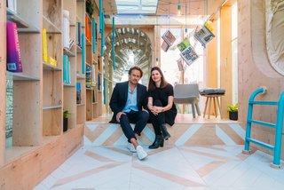 Oke Hauser and Corinna Natter of MINI LIVING in the Urban Cabin.