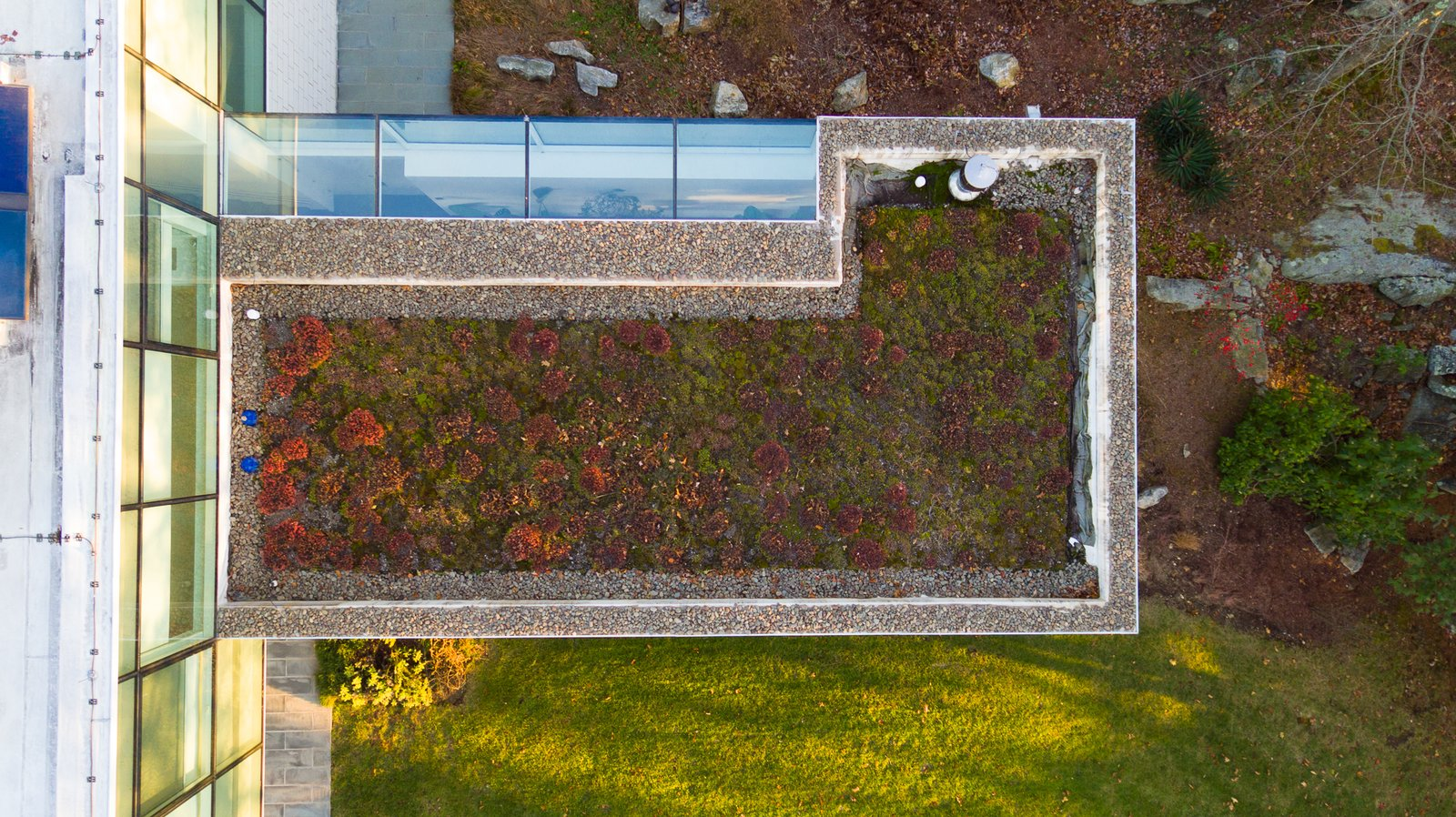 Exterior, Flat RoofLine, and Green Roof Material  Best Photos from A Toshiko Mori-Designed Masterpiece in New York Wants $4.95M