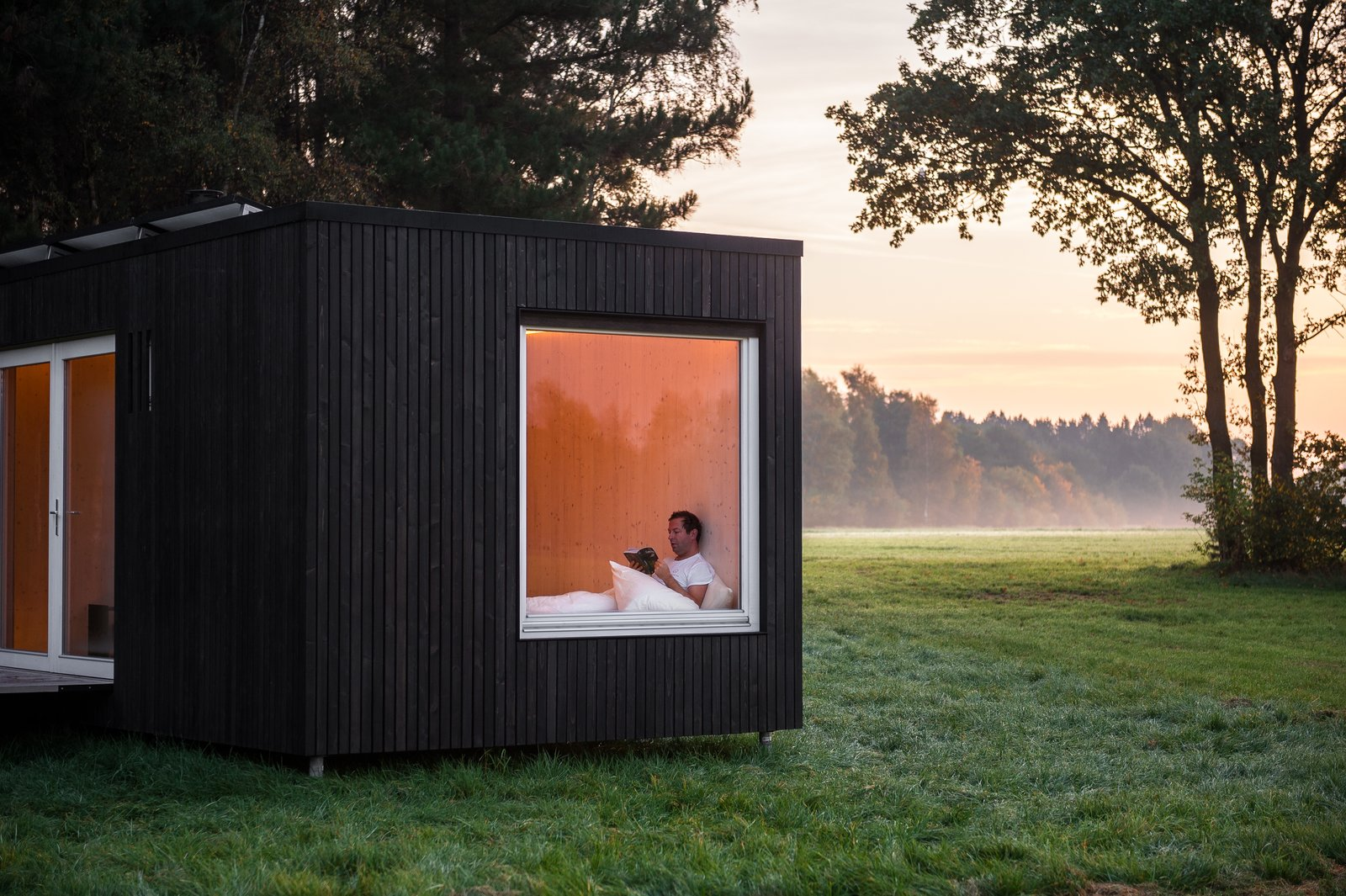 Windows and Casement Window Type  Photo 11 of 12 in These Off-the-Grid Cabins in Belgium Keep Their Locations Secret Until You Book