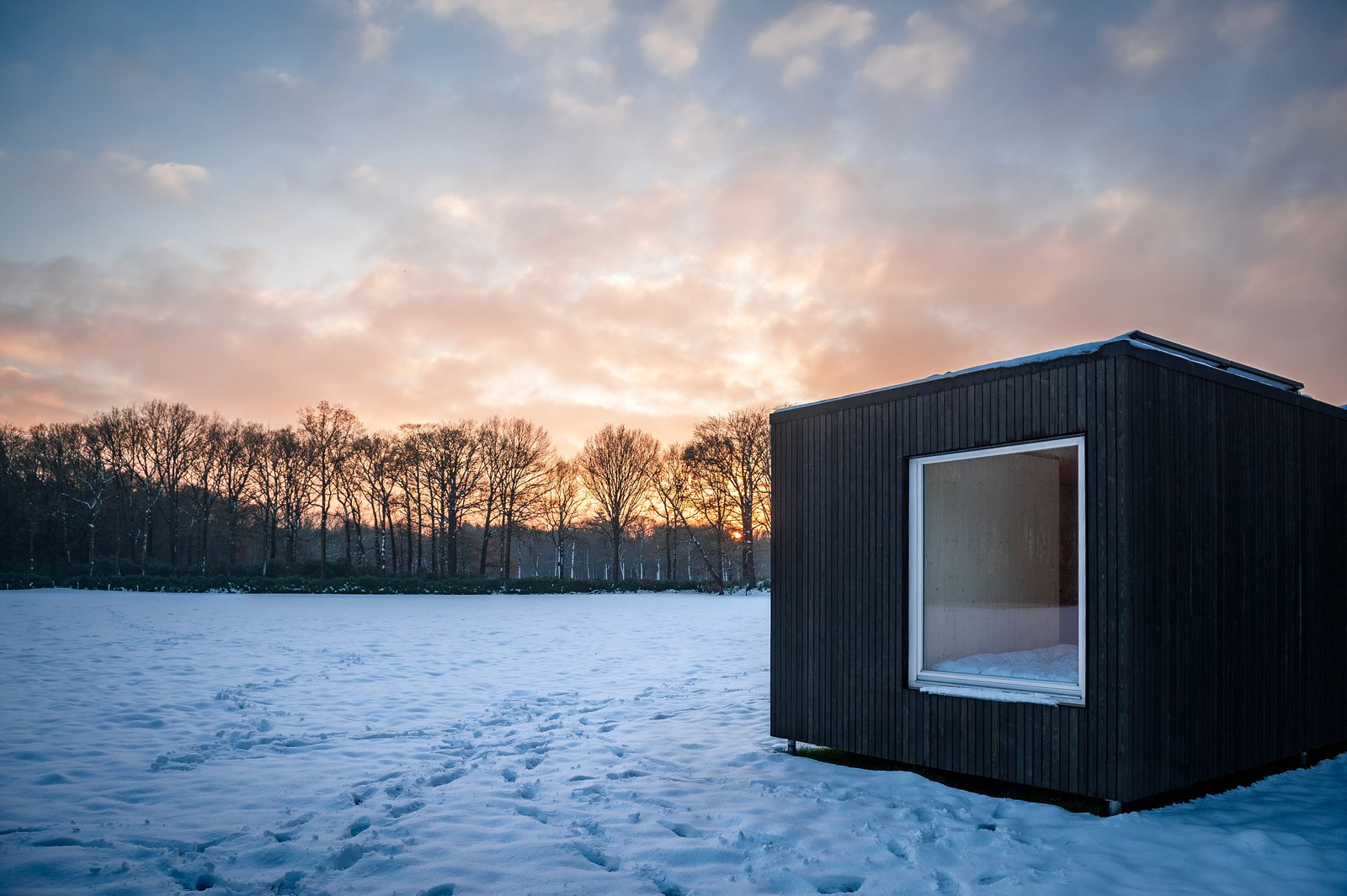 Outdoor, Field, and Grass  Photo 4 of 12 in These Off-the-Grid Cabins in Belgium Keep Their Locations Secret Until You Book