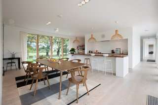 The bright, open, contemporary kitchen