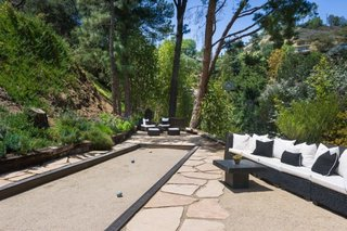A bocce court is perfect for al fresco entertaining.