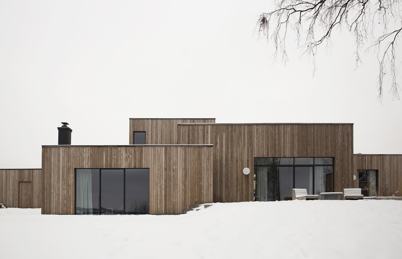 Exterior, House Building Type, Wood Siding Material, and Flat RoofLine  Photo 1 of 18 in A Cubic Dwelling in Norway Just Oozes Hygge