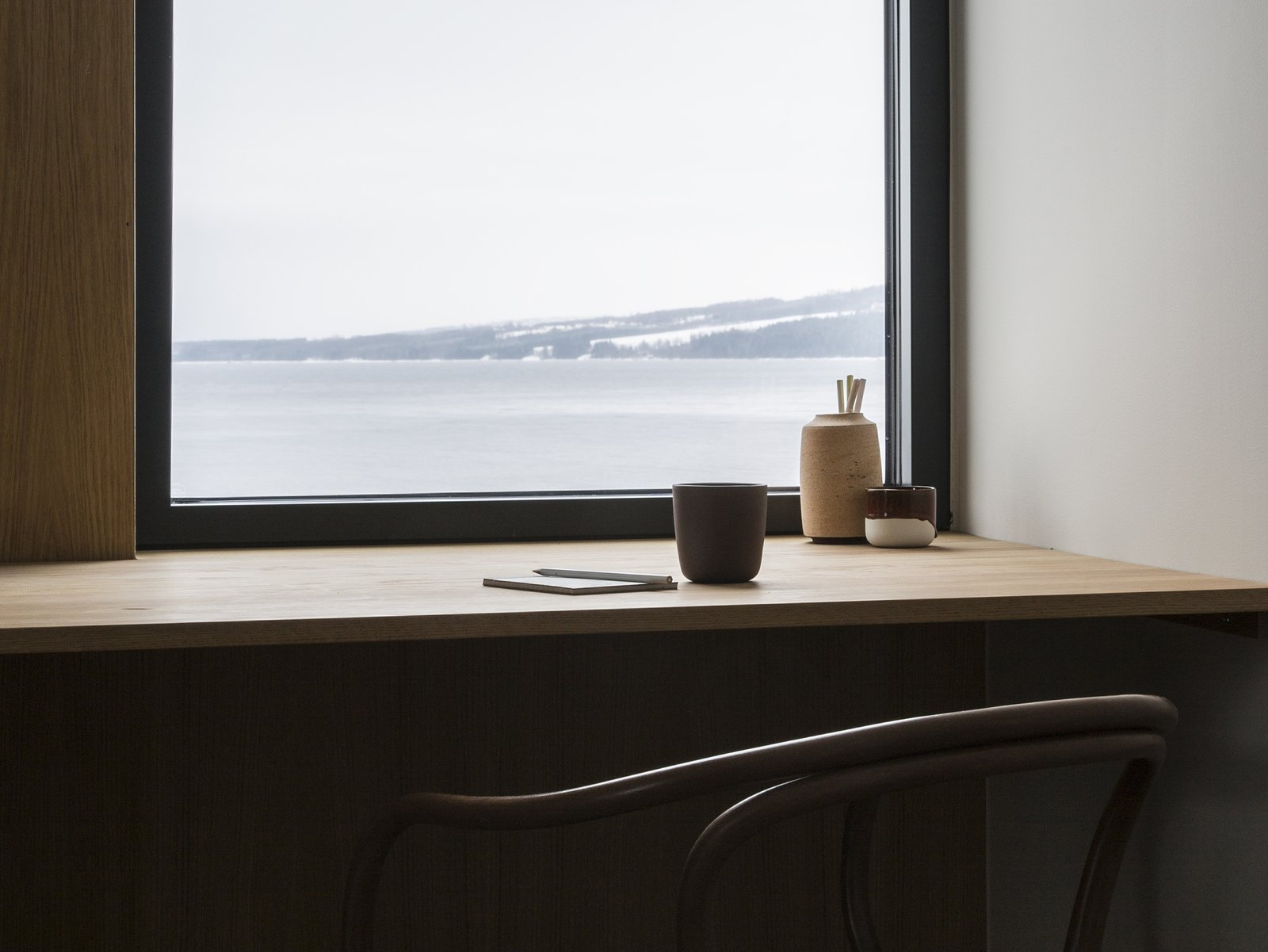 Office, Desk, Chair, and Study Room Type  Photo 14 of 18 in A Cubic Dwelling in Norway Just Oozes Hygge