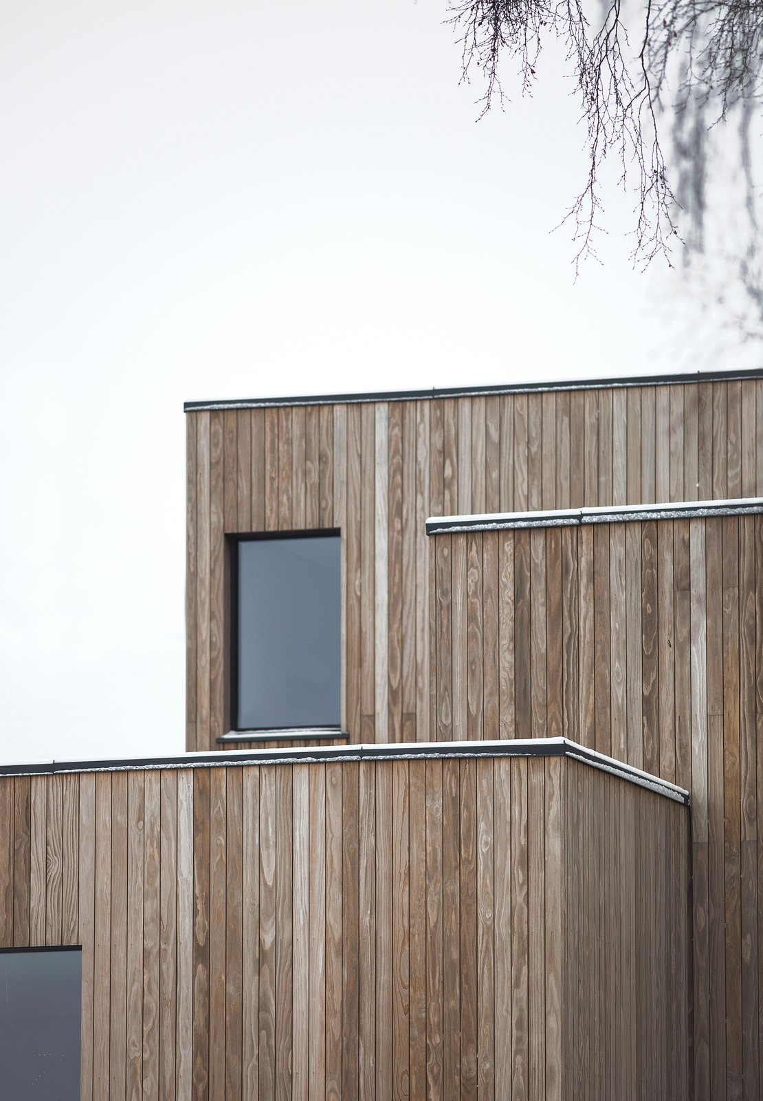 Exterior, House Building Type, Wood Siding Material, and Flat RoofLine  Photo 3 of 18 in A Cubic Dwelling in Norway Just Oozes Hygge