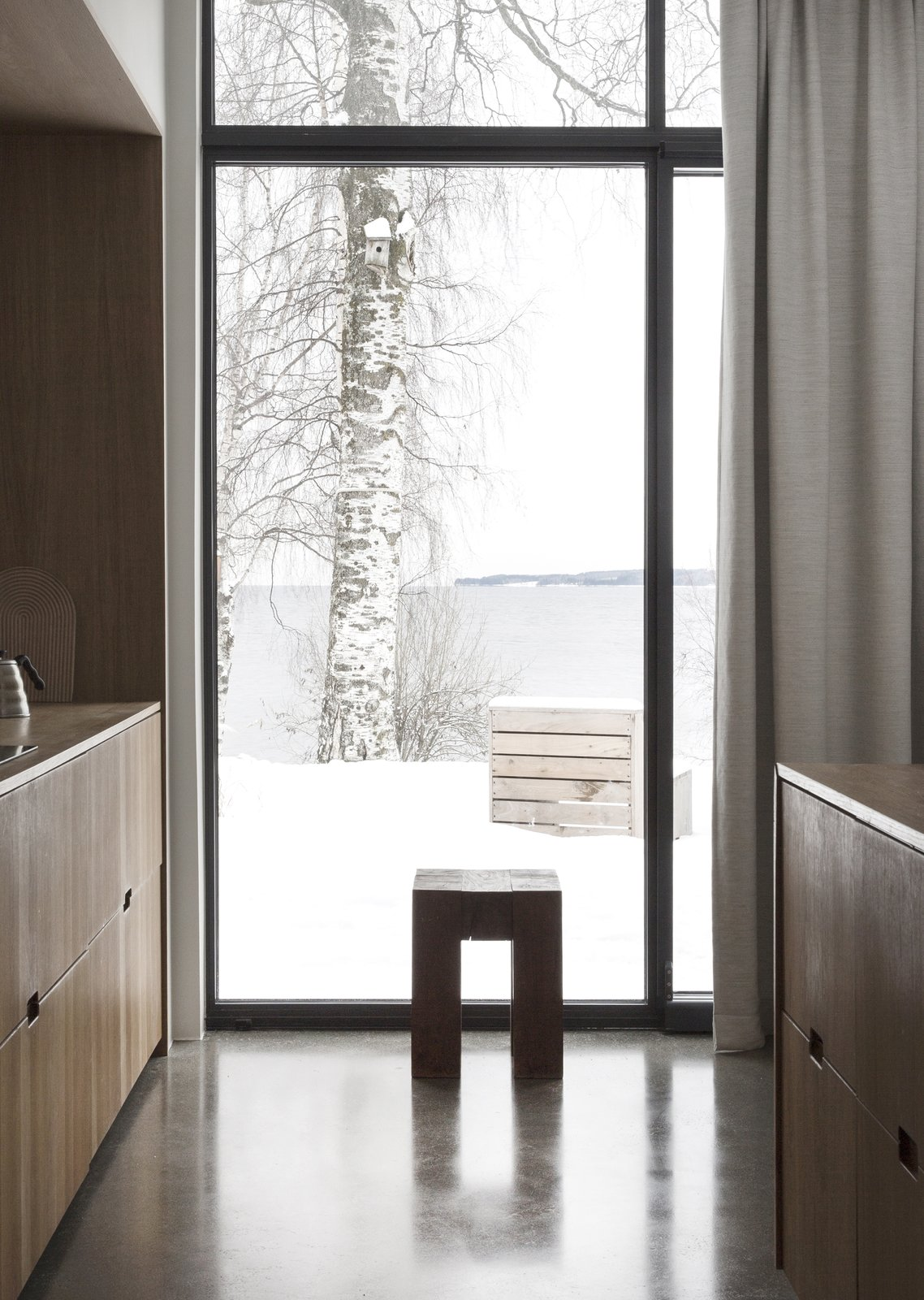 Kitchen, Wood, Concrete, Wood, and Wood  Best Kitchen Wood Wood Wood Photos from A Cubic Dwelling in Norway Just Oozes Hygge