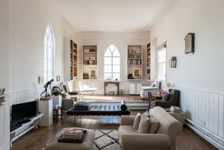 The light-filled, double-height library