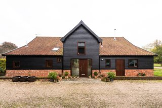 The main house is a converted barn.