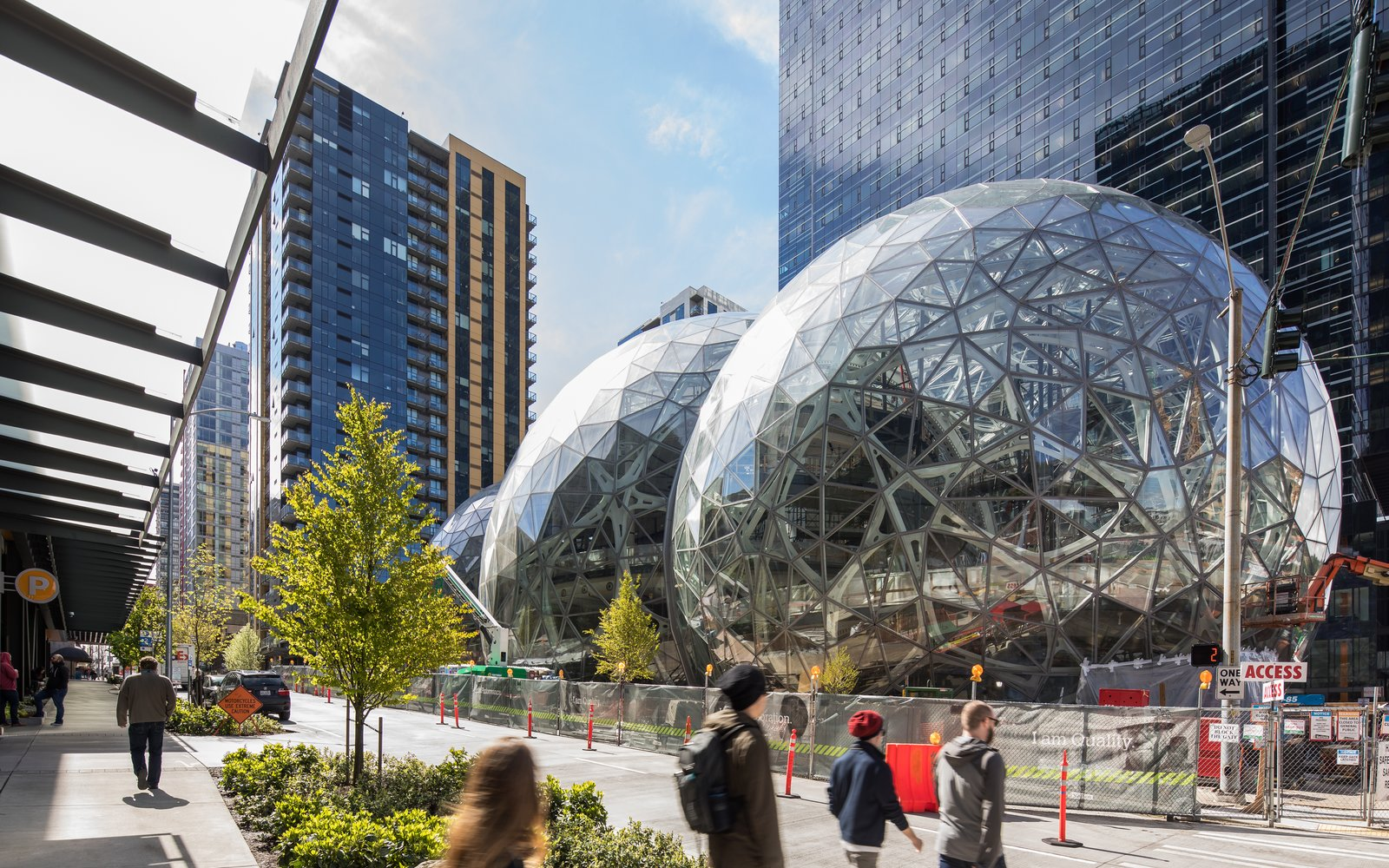 Exterior, Dome RoofLine, and Glass Siding Material Three fabricators across the Pacific Northwest collaborated to create the structure.  Photo 3 of 9 in Meet Downtown Seattle's Newest Landmark: The Amazon Spheres