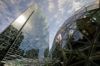 The Spheres form a dramatic addition to the Amazon headquarters and a landmark in downtown Seattle, demonstrating the company's long-standing commitment to the city.