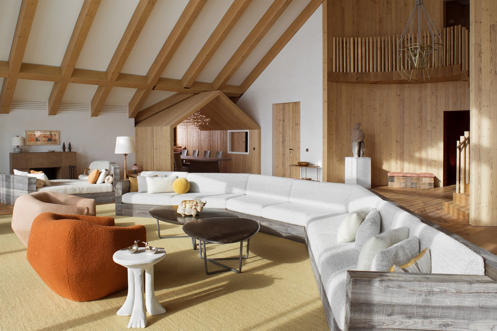 A gorgeous chalet in the swiss alps perfectly blends modern and