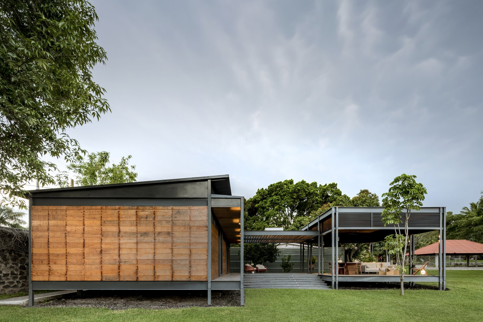 Exterior, Flat, Wood, House, Metal, Metal, and Prefab  Best Exterior Metal House Flat Metal Photos from This Modern Prefab Is Now a Gorgeous Guest House