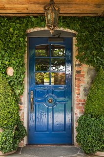 The French Laundry's iconic blue door.