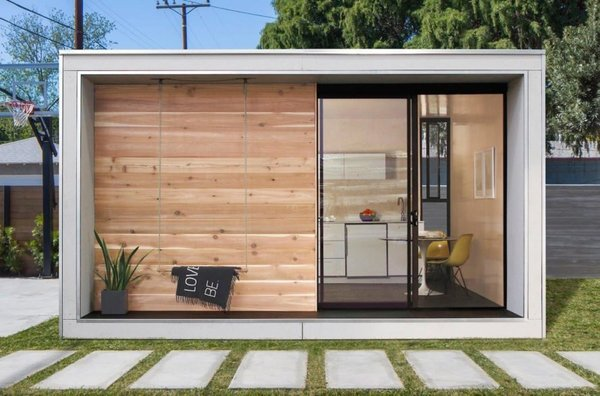 L.A.-based Icelandic natives Erla Dögg Ingjaldsdóttir and Tryggvi Thorsteinsson of Miniarc created the 320-square-foot Iceland-inspired tiny dwelling Plús Hús, to be a sustainable and useful solution for addressing the housing shortage in their adoptive home. The Accessory Dwelling Unit (ADU) is prefabricated at the company's mnmMOD's facility in downtown Los Angeles, shipped flat pack, assembled with minimal waste and can be delivered anywhere in the U.S. starting at $37,000.