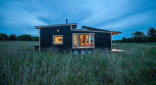 The Greenmoxie tiny house project is 340-square-feet, sustainably built, and can go totally off the grid. This home starts at $65,000.