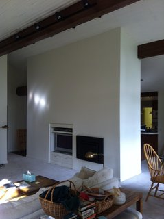 The fireplace before the renovation.