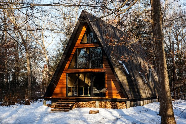 Get Cozy in This Renovated A-Frame Cabin in the Woods