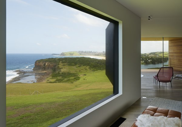 Instead of providing the same view throughout the house, the architects have created thoughtful framed views of the surroundings.