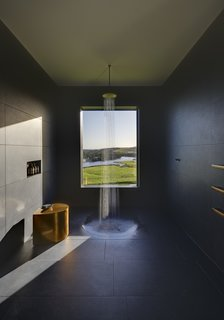 The home's remote location provides much of its sense of privacy.