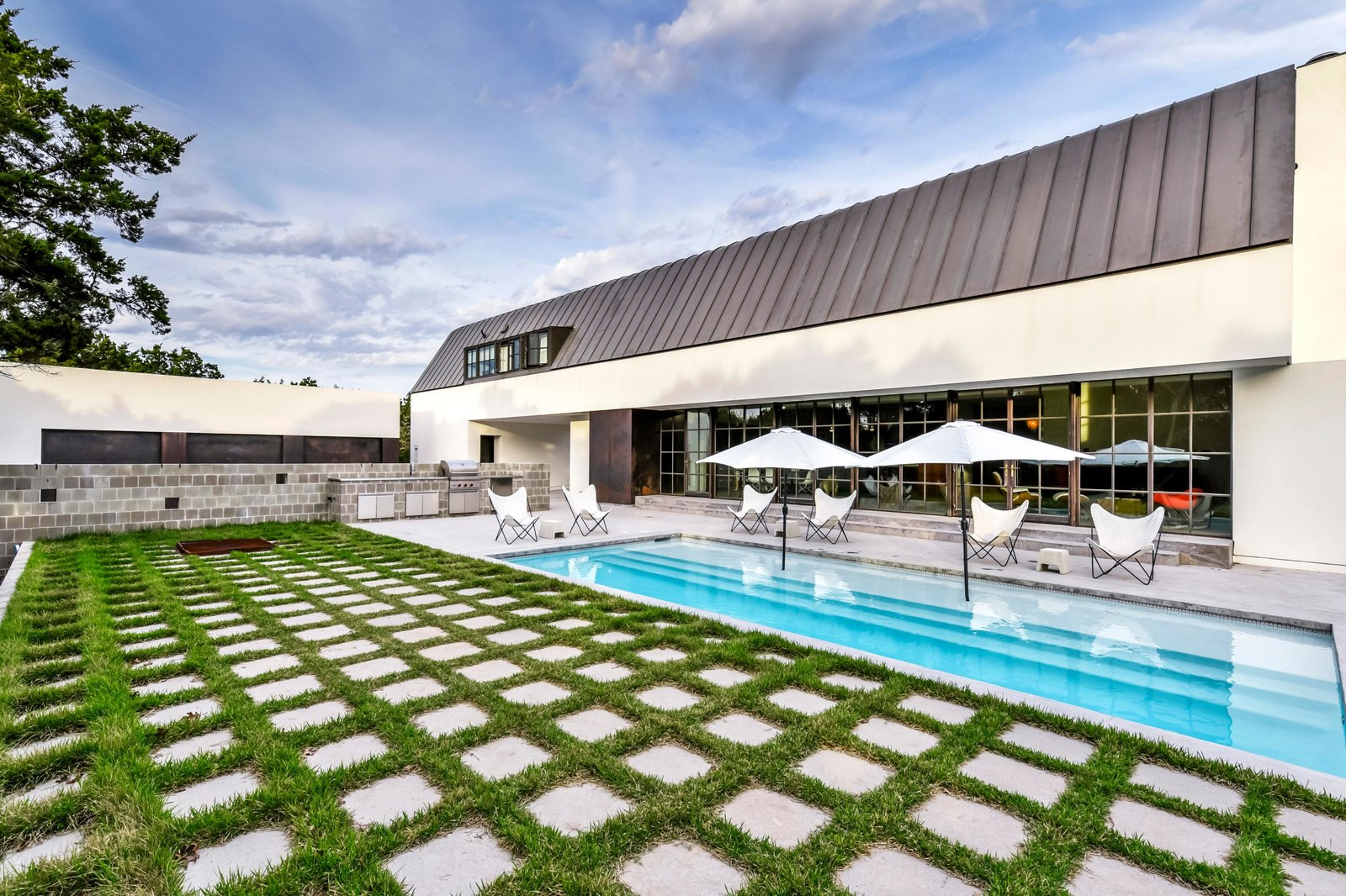The pool area was designed for outdoor entertaining.